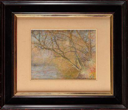 Raymond THIBESART (1874-1968) Paysage Pastel,...