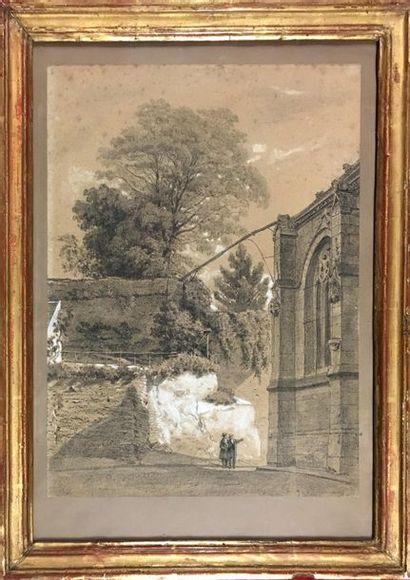 Ecole Française du XIXe siècle Paire de dessins...