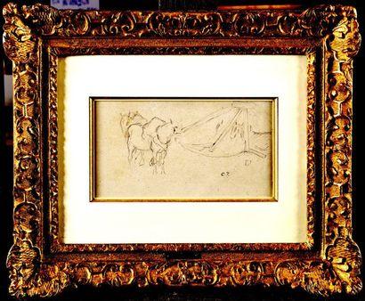 Camille PISSARRO (1830-1903) Chevaux Mine...