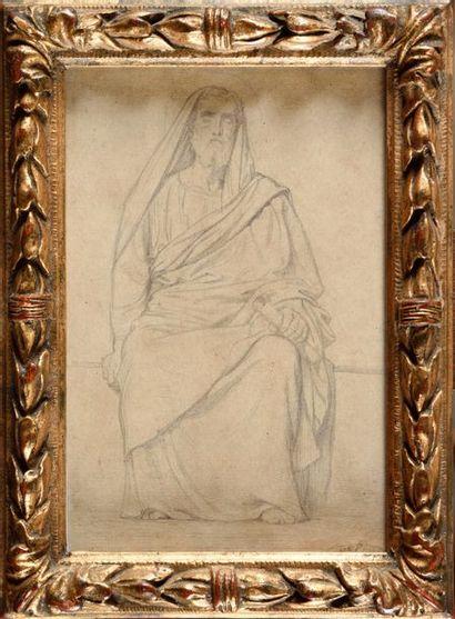 Hippolythe FLANDRIN (1809-1864) Saint Grégoire,...