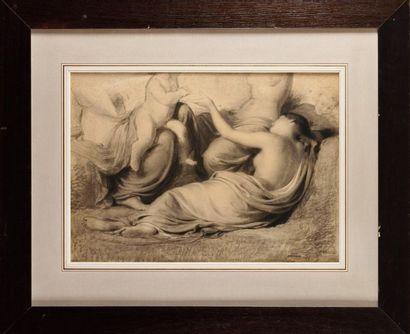 Fritz ZUBER BUHLER (1822 – 1896) Trois jeunes...