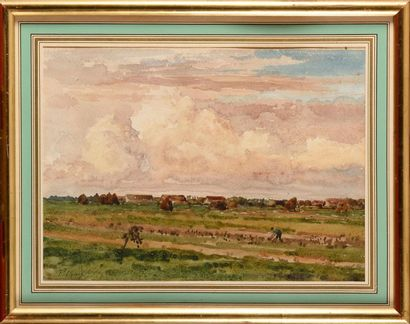 Jean Ferdinand CHAIGNEAU (1830-1906) Le travail...