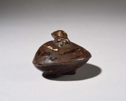 JAPON Boite couverte – Kogo - en grès émaillé...