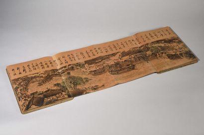 JAPON Recueil d'estampes à sujets de paysages...