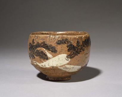 JAPON : Bol à thé – Chawan - en RAKU en terre...