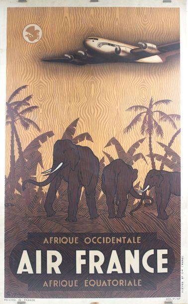 Vincent GUERRA (XXème)    Afrique- Air France...