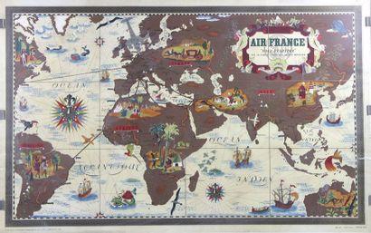 Lucien BOUCHER (1889-1971)    Nova et Vetera- Air France 1938    Affiche lithographique...
