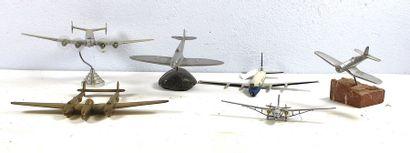 Maquettes en métal dont une de P. Fradet...