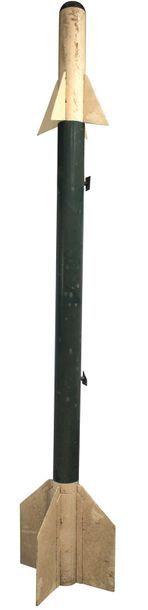 Maquette - Missile AIR-AIR    Grande maquette en tôle et bois, échelle 1. Missile...