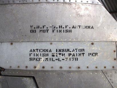 Dérive - SABRE F-86    Dérive d'un avion SABRE F 86, premier avion de chasse Américain...