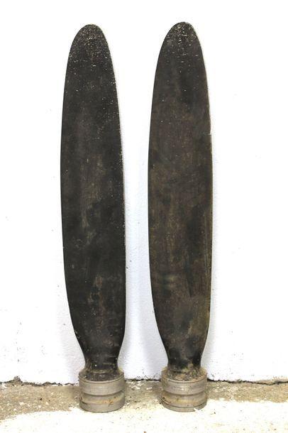 Paire de Pales    Paire de pales d'hélice en alliage aéronautique spécifique. Peintes...