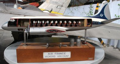Maquette d'agence AIR FRANCE - VICKERS VISCOUNT...