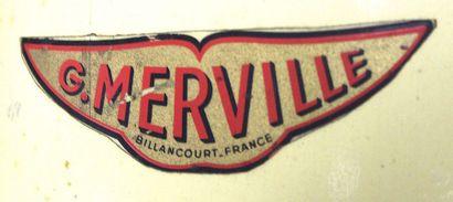 Hélice - G. MERVILLE    Hélice bipale en bois de hêtre latté, à bords d'attaque...