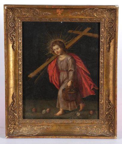 École française du XVIIe siècle. Le Christ...