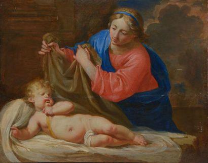 Attribué à Charles POERSON (1609-1667). Vierge...