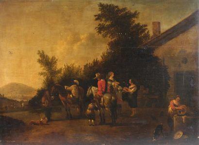 École hollandaise du XVIIe siècle, entourage...