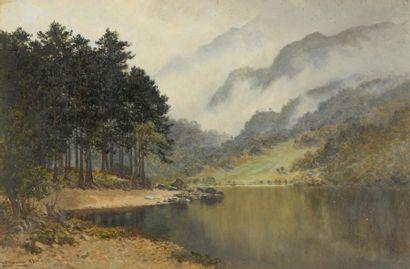 William B. YOUNG (1845-1916). Vue du lac...