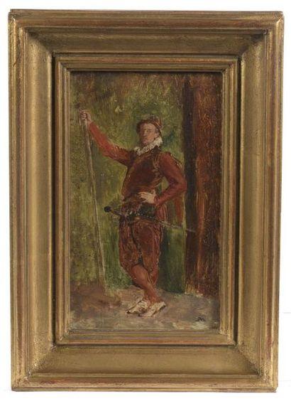 Ernest MEISSONIER (1815-1891). Hallebardier....