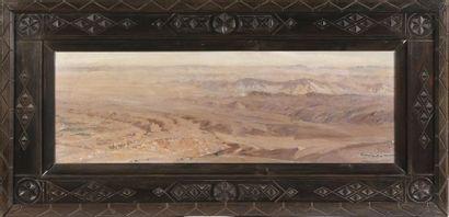 Constant LOUCHE (Alger, 1880 - 1965). Caravane...