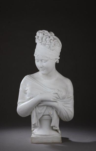 D'après Jean-Antoine HOUDON ( Versailles, 1741 - Paris, 1828) - D'après Joseph CHINARD...