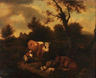 Dirk Van BERGEN (Haarlem, 1645 - vers 1690)...