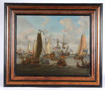 Jacobus STORCK (Amsterdam, 1614-1692). Canonnade...