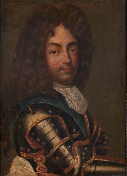 École française du XVIIe siècle. Portrait...