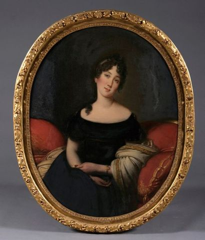 École française vers 1830. Portrait de Joséphine...