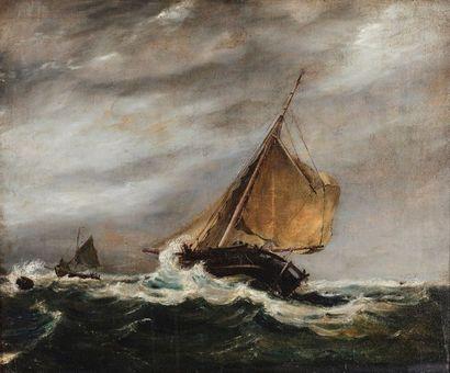 E. WIGZELLE (XIXe siècle). Bateaux dans la...