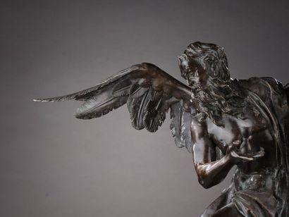 D'après Ignace GUENTHER (Altmannstein, 1725 - Munich, 1775). Chronos. Bronze à patine...