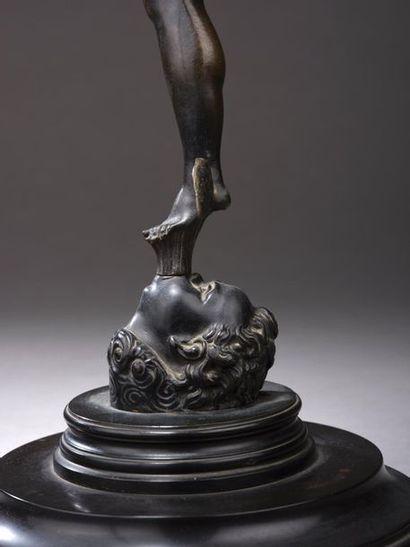 D'après Jean BOLOGNE dit GIAMBOLOGNA (Douai, 1529 - Florence, 1608). Mercure volant....