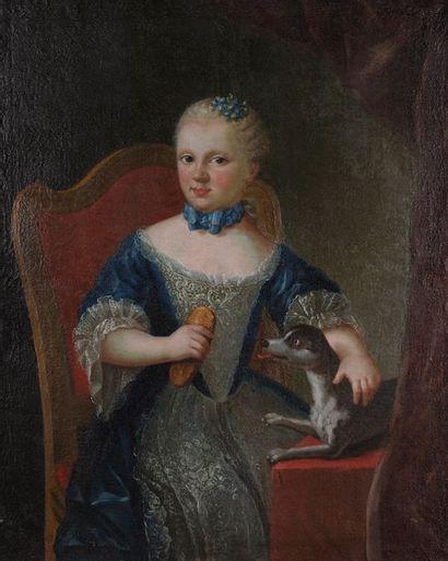 École autrichienne vers 1760. Jeune fille...
