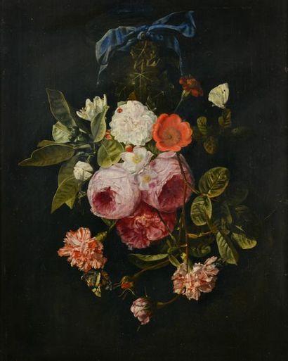 Carstian LUYCKX (Anvers, 1623 - 1670). Guirlande...