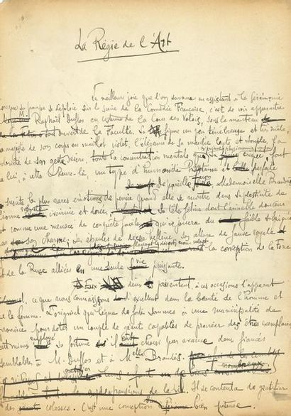 *Paul ADAM (1862-1920) romancier. 19 MANUSCRITS...