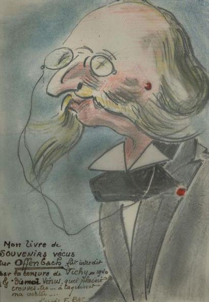 *Ferdinand BAC. 6 dessins originaux aux crayons...