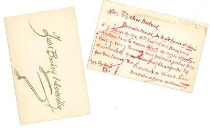 *Jules BARBEY D'AUREVILLY (1808-1889). 2...