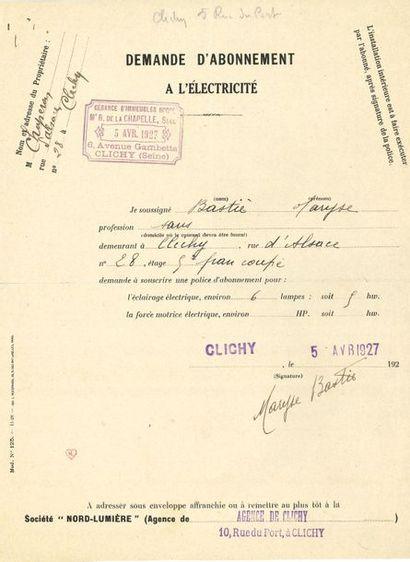 *Maryse BASTIÉ (1898-1952) aviatrice. 2 P.S....