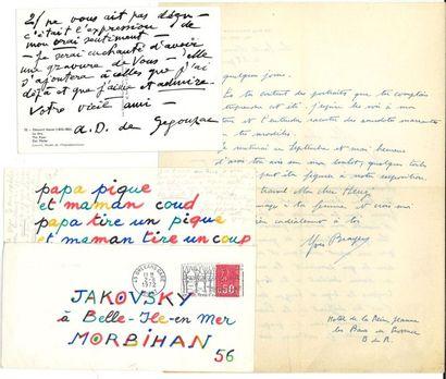 *BEAUX-ARTS. Environ 90 lettres ou pièces,...