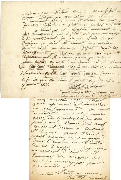 *BEAUX-ARTS. 55 lettres ou pièces, dont quelques...