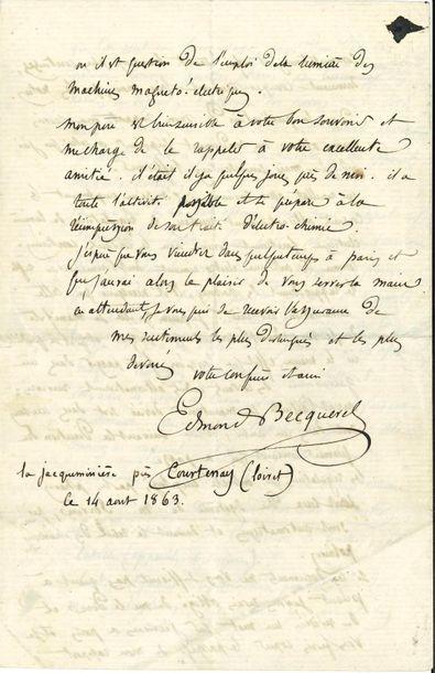 *Edmond BECQUEREL (1820-1891) physicien....