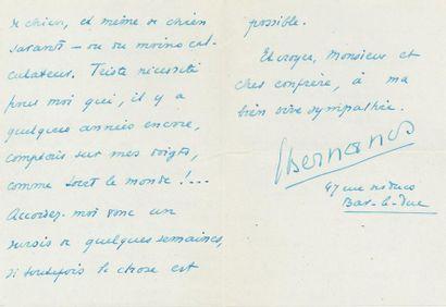 *Georges BERNANOS (1888-1948). L.A.S., Lunéville...