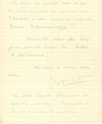 *Georges BERNANOS. L.A. et L.A.S., [Hyères...