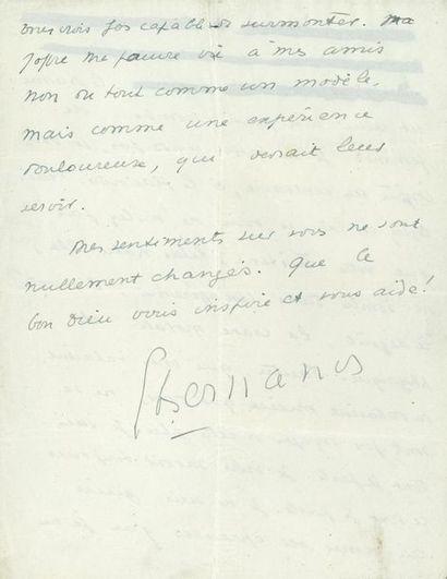 *Georges BERNANOS. L.A.S., [Brésil 1938 ?],...