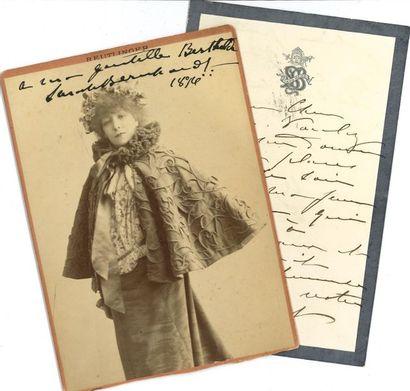 *Sarah BERNHARDT (1844-1923). 2 L.A.S. et...