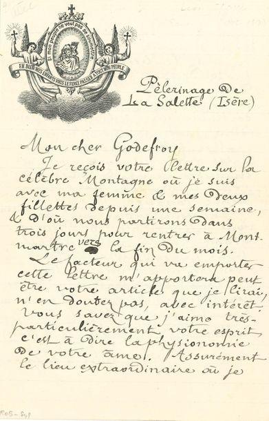 *Léon BLOY. L.A.S., « Pèlerinage de La Salette...