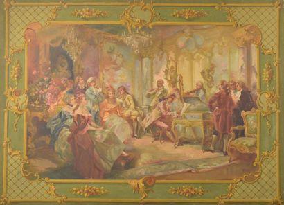 Luigi CLARA (1875-1925). Le Concerto. Huile...