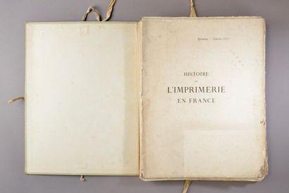 CLAUDIN (Anatole). Histoire de l'imprimerie...
