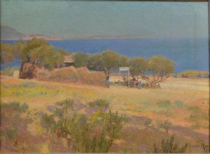 Paul LECUIT-MONROY (1858 -?). Paysage de...
