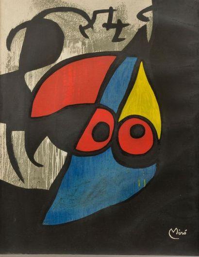 Joan MIRO (1893-1983). L'oiseau. Lithographie...