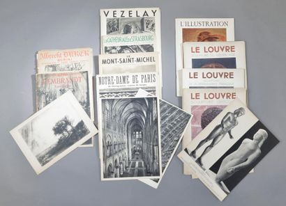 Ensemble de livres et revues d'art comprenant: quatres exemplaires de L'Illustration...